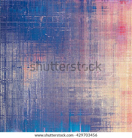 Aged textured background, macro closeup grungy backdrop with different color patterns: yellow (beige); blue; red (orange); purple (violet); pink - stock photo