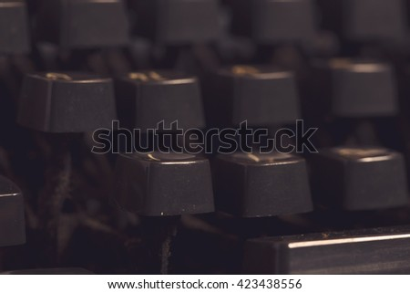 Aged typewriter keys or buttons