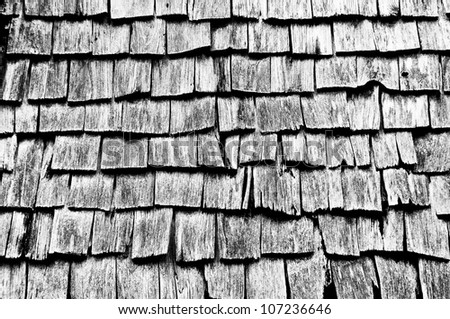 Aged Wooden Background with texture is black and white. - stock photo