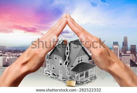 Agency, alarm, apartment. - stock photo