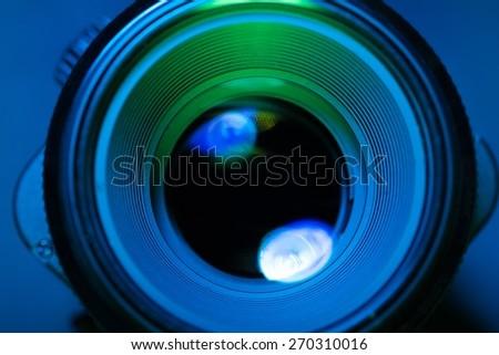Agency, alarm, aperture. - stock photo