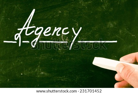 agency concept - stock photo