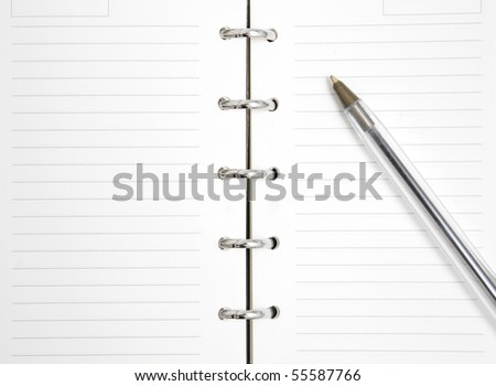 Agenda - stock photo