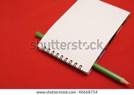 Agenda and pencil - stock photo