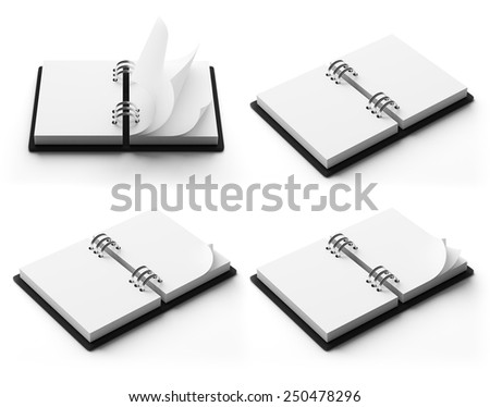 Agenda with copy space isolated on white background - stock photo