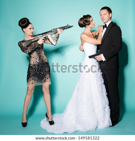 agent bond style - stock photo