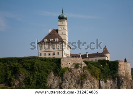 aggsbach dorf cruise on the Danube from vienna to merk austria - stock photo