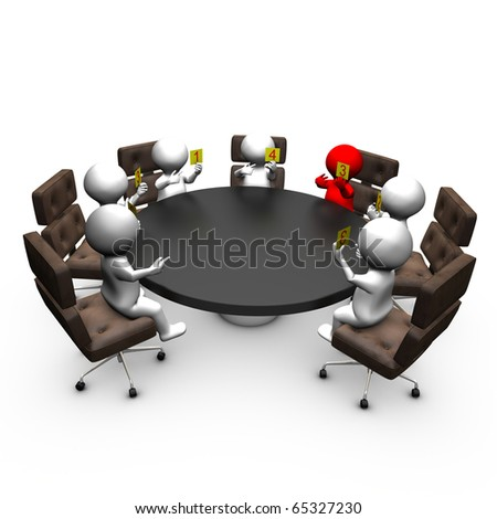 Agile scrum sizing. A team is sizing functionalities - stock photo