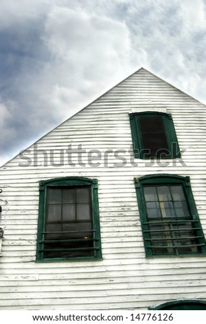 Aging Country Store Has White Wooden Stock Photo (Royalty Free ...