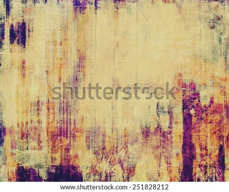 Aging grunge texture designed as abstract old background. With different color patterns: yellow (beige); brown; red (orange); purple (violet) - stock photo