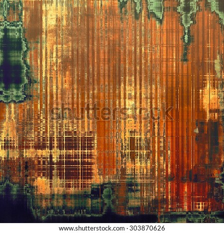 Aging grunge texture, old illustration. With different color patterns: yellow (beige); brown; red (orange); green - stock photo