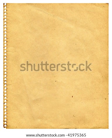 Aging paper - stock photo