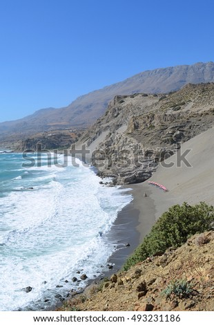 Agios Pavlos Beach Cove with Sandhill