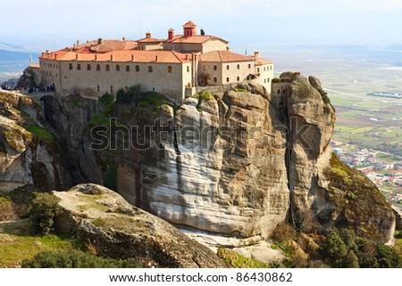 Agios Stefanos Monastery in Meteora, Greece - stock photo