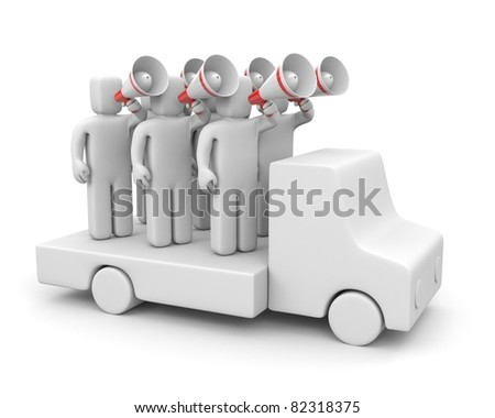 Agitation or promotion - stock photo