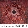 AGRA, INDIA - APRIL 10: Pattern on Taj Mahal on April 10, 2012 in Agra, India. Taj Mahal is widely recognized as the jewel of Muslim art and one of the universally masterpieces of the world - stock photo