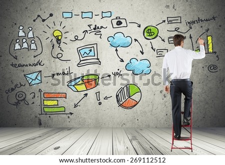 Agreement. Concept of businessman that plans a global business - stock photo