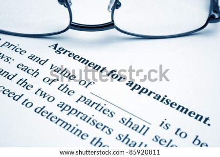 Agreement for aparaisement