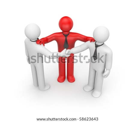 Agreement with intermediary - stock photo