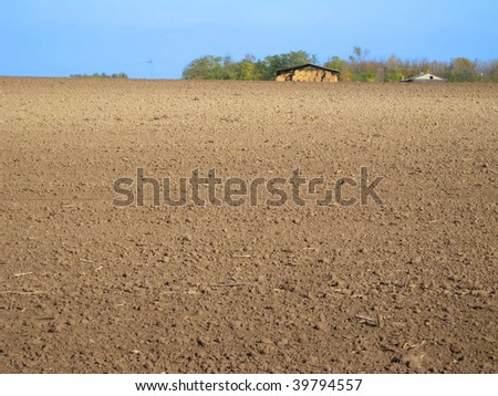 agricultural land - stock photo