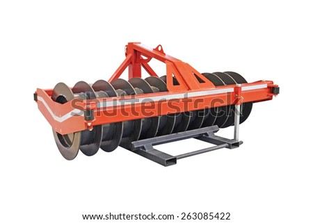 Agricultural machinery isolated under the white background - stock photo