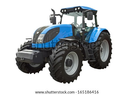 Agricultural tractor - stock photo