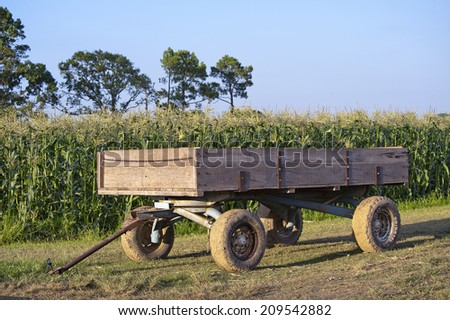 Agricultural Wagon - stock photo