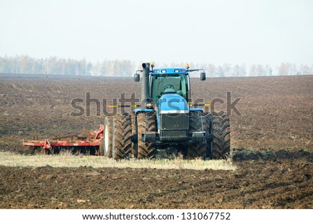 agricultural work in processing, cultivation of land in Russia
