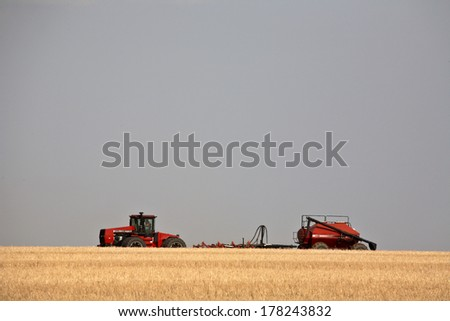 Agriculture: Although agriculture accounts for less than half of total production, it remains Saskatchewan?s largest single industry.  - stock photo