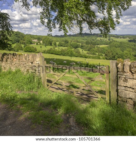 agriculture and farming in the english countryside - stock photo
