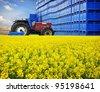Agriculture business on farm, rape production distribution - stock photo