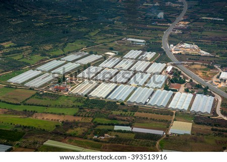 Agriculture from the sky - stock photo