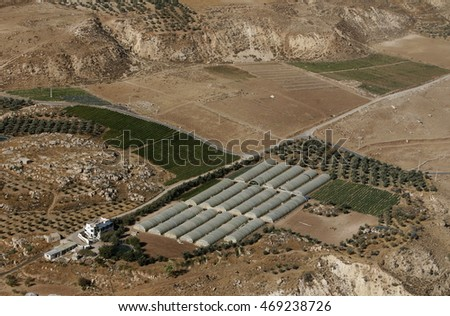 agriculture in the town of karak in jordan in the middle east