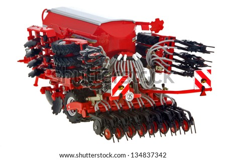 agriculture with drill Sowing the Seed - stock photo