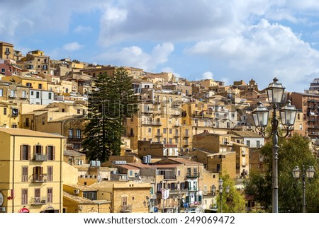 Agrigento old town - stock photo