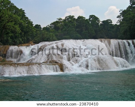 agua azul waterfalls in mexico