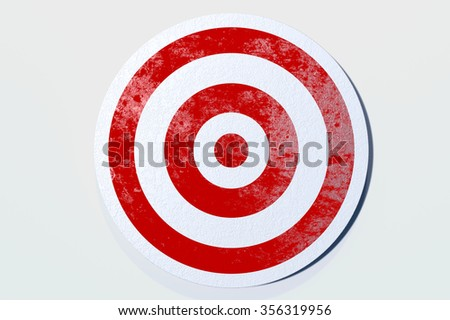 Aim for the Target A simple, classic red and white target. Great to use to represent any target or goal.  3d render, models by the artist. - stock photo