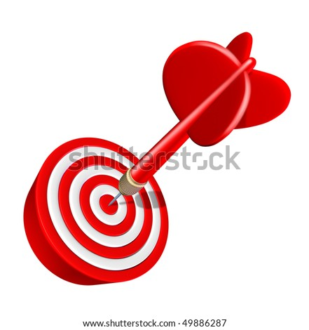 Aim success isolated on white