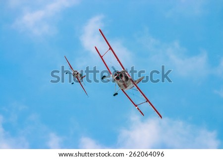 Air acrobatics team - stock photo