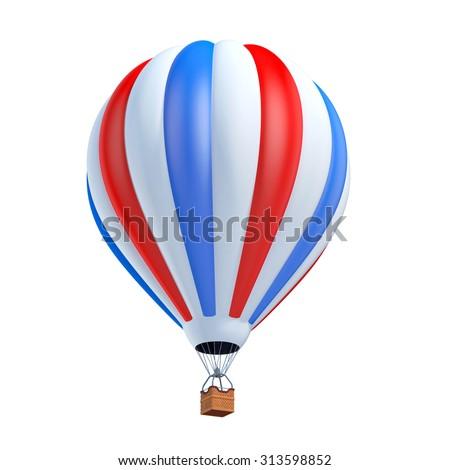 air balloon 3d illustration - stock photo