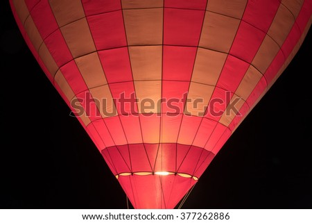 Air balloon in the dark sky