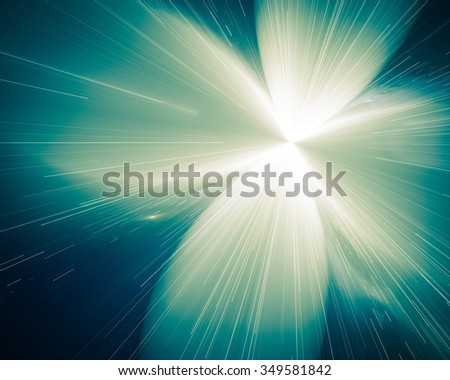 Air blurred background with color transitions of green and gold color with smooth lines. There is some graininess, uneven. - stock photo