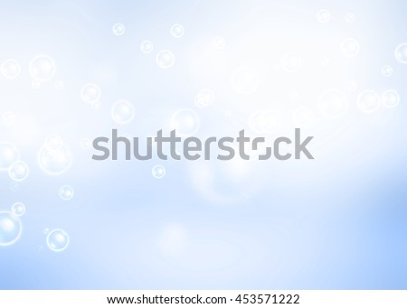 Air bubbles on light blue background.
