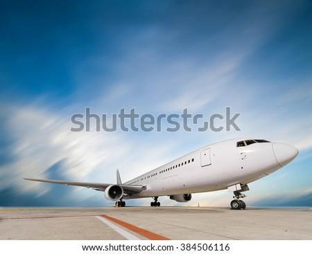 air cargo freighter - stock photo