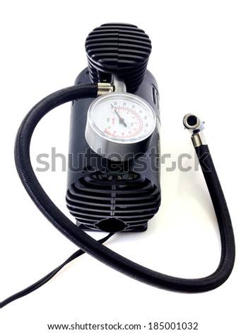 Air compressor isolated - stock photo