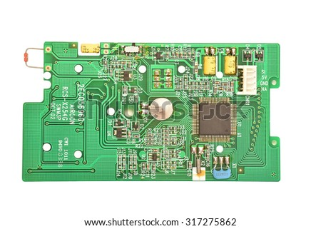Air Con Remote Control circuitry, Internal View  - stock photo