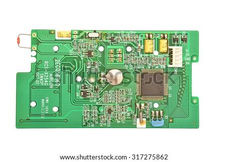 Air Con Remote Control circuitry, Internal View  - stock photo