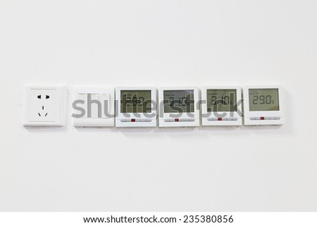 air-condition panel - stock photo