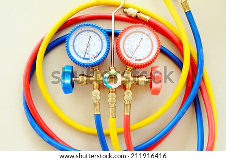 air condition service equipment - stock photo