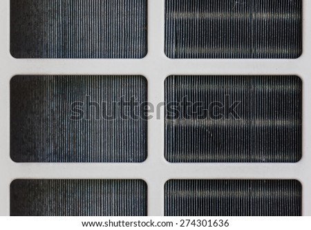 air conditioner filter close up - stock photo